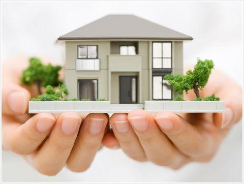 戸建て住宅の模型